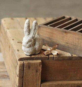 "3.75"" Rustic Stone Bunny"