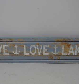 Live Love Lake Wooden Plaque Sign