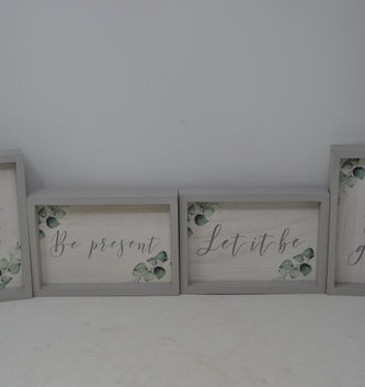 Framed Wooden Foliage Sign (4-Styles)