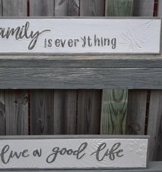 Framed Enamel Gray & White Sign (2-Styles)