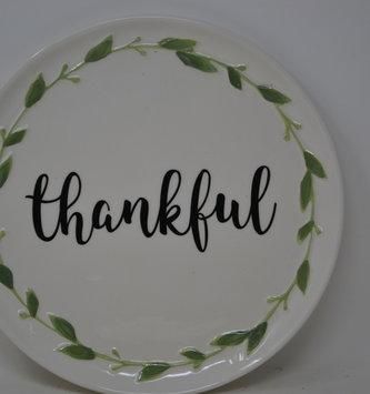 Round Foliage Thankful Platter