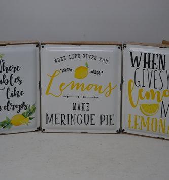 Enamel Lemon Block Sign (3-Styles)