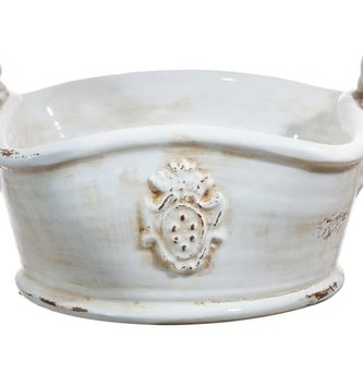 Ceramic Rutherford Basket Container