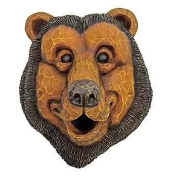 Black Bear Face Birdhouse
