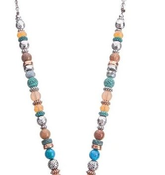 Mixed Beaded Dragonfly Necklace Set