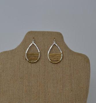 Wire Wrapped Teardrop Earrings