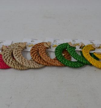 Rattan Open Hoop Earrings (5-Colors)