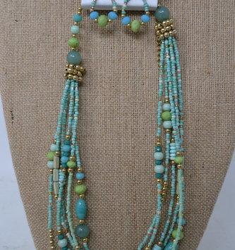 Barbados Beaded Necklace Set