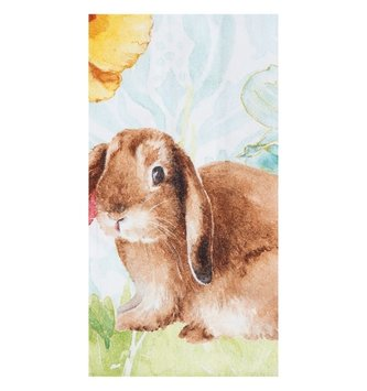 Watercolor Floral Bunny Towel
