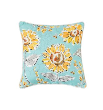 Indoor Outdoor Bee Garden Pillow