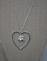 Pearl Cluster Open Heart Necklace