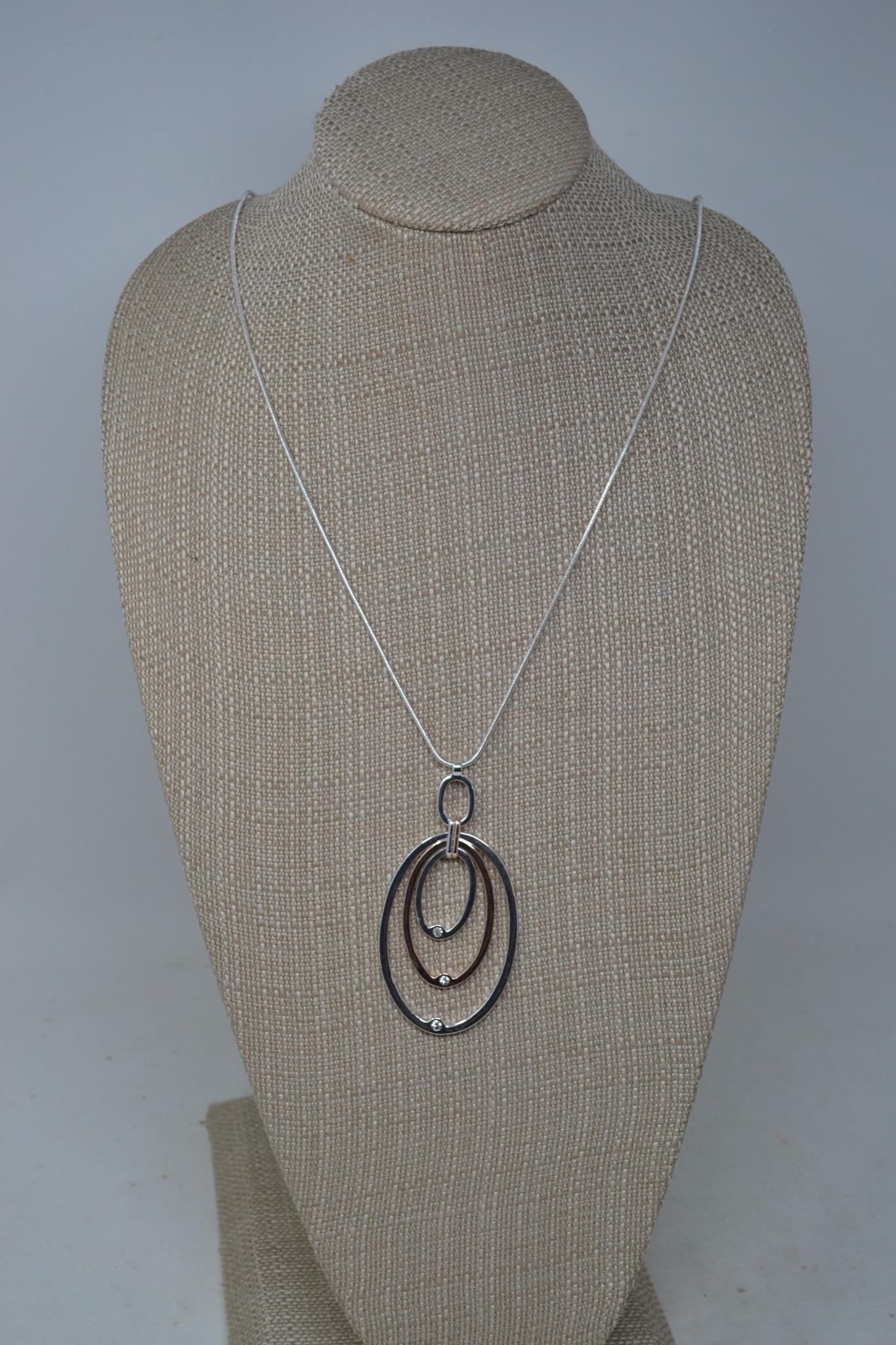 Rhinestone Multi-Oval Necklace