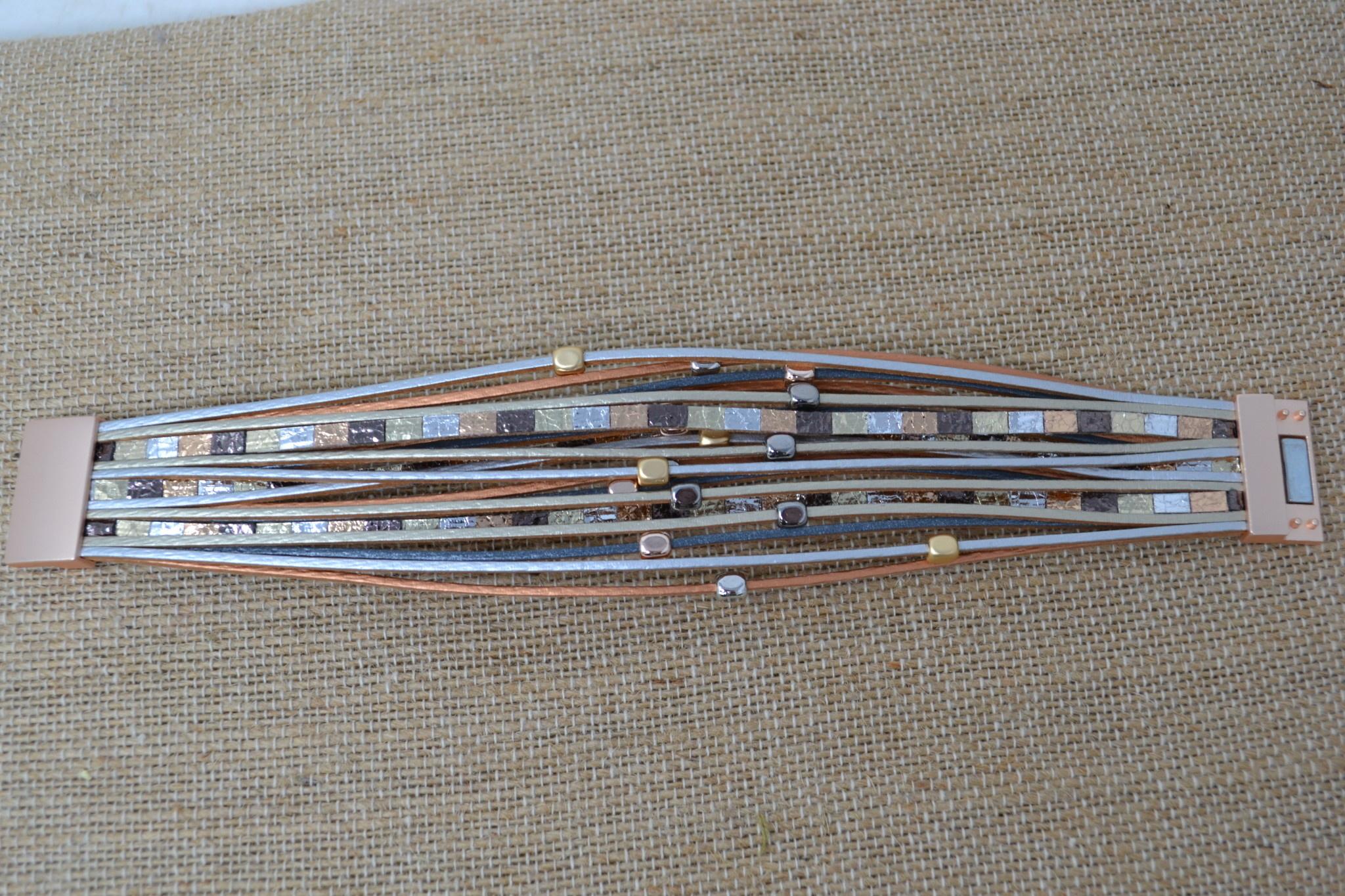 Cleopatra Multi-Strand Magnetic Bracelet