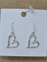 Rhinestone Silver Heart Earrings