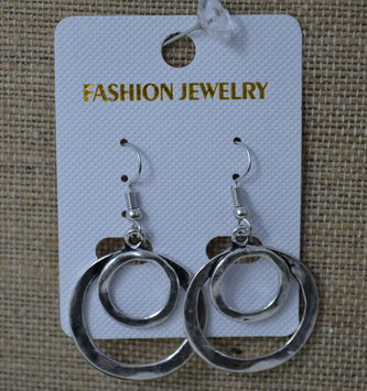 Hammered Double Circle Earrings