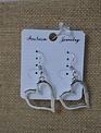 Flat Open Heart Earrings