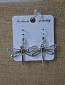 Open-Wing Silver Dragonfly Earrings