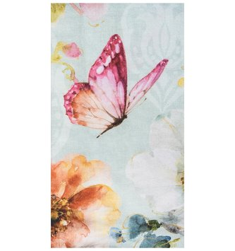 Watercolor Floral Butterfly Towel (2-Styles)