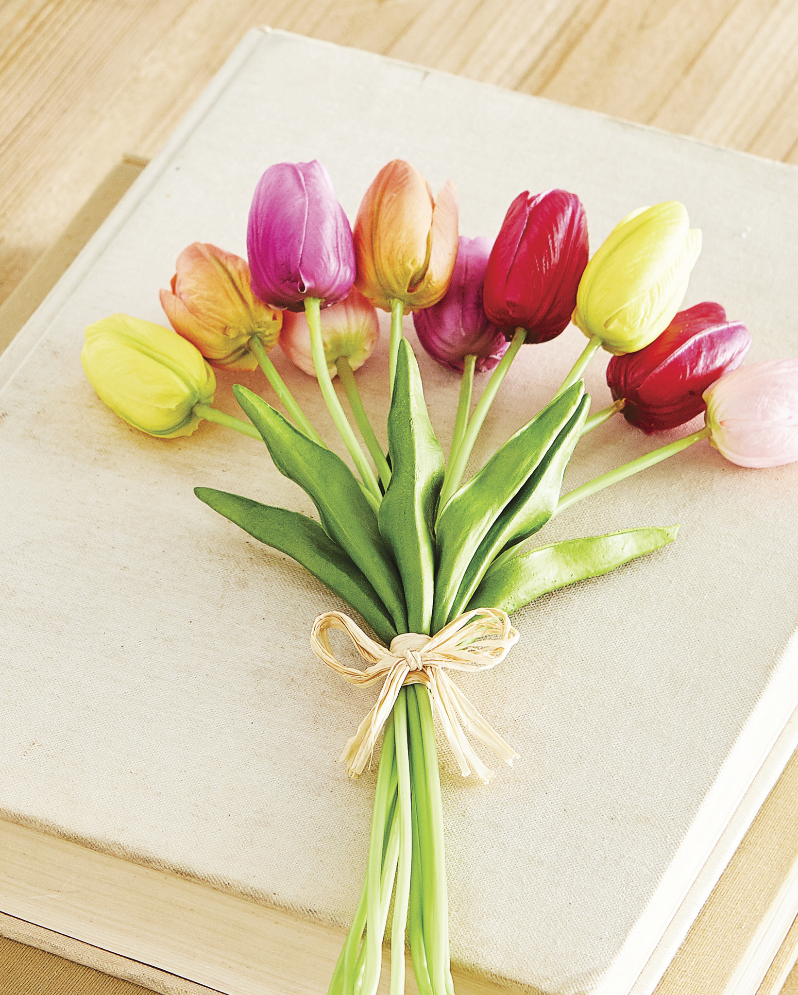 """14.5"""" Natural Touch Mixed Tulip Bundle"""