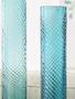 Turquoise Twisted Glass Vase (2-Sizes)