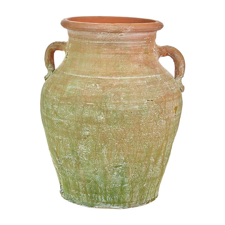 """15"""" Handled Terracotta Vase"""