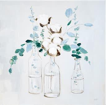 Square Eucalyptus Bottle Trio Canvas Print (2-Styles)