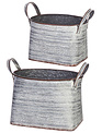 Stamped Tin Container (2-Sizes)