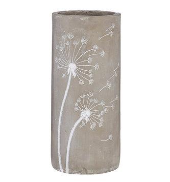 Gray & White Dandelion Vase (2-Sizes)
