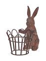 "7"" Brown Bunny w/ Metal Basket"