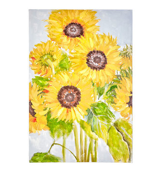 Sunflower Garden Painted Canvas Print