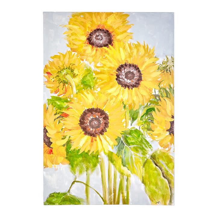 Sunflower Garden Painted Canvas Print