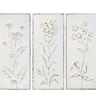 "23"" Wildflower Cream Wall Panel (3-Styles)"