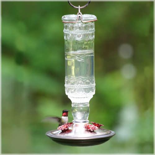 Antique Clear Hummingbird Feeder