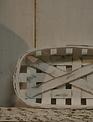 White Washed Oval Tobacco Basket (3-Sizes)