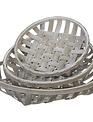 Round Gray Woven Tobacco Basket (3-Sizes)