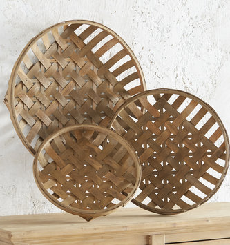 Round Natural Tobacco Basket (3-Sizes)