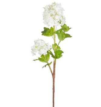 """36.5"""" White Hydrangea Branch"""