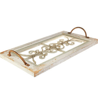Decorative Vintage Window Pane Tray