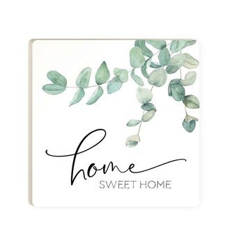 Home Sweet Home Eucalyptus Coaster Set