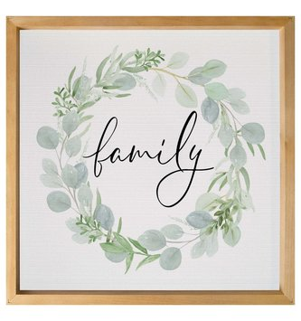 Framed Family Eucalyptus Wreath Print