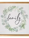 Framed Family Eucalyptus Wreath Print