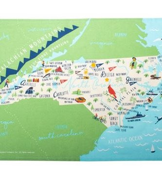 North Carolina Kitchen Tea Towel
