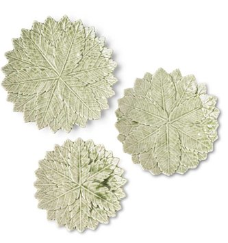 Ceramic Leaf Medallion Plate (3-Sizes)