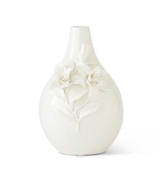 """10.5"""" Ceramic 3-D Floral Vase"""