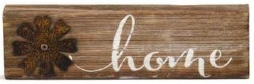 Wooden Message Sign with Metal Decor (8-Styles)