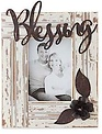 Rustic Photo Frame with Metal Accents (3-Styles)