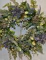 Custom Dusty Lavender Berry Wreath