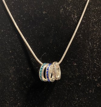 Eternity Birthstone Charm Necklace (2-Colors)