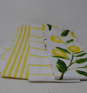 Set of 4 Lemonade Kitchen Towels