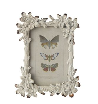 Distressed Mini Metal Floral Frame